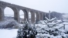 Angarrack viaduct - long view - in the snow..   #snowday